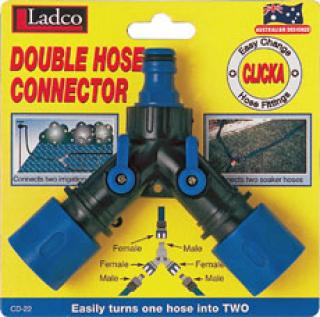 Double Hose Connector  sc 1 st  Ladco Australia & Double Hose Connector | Hose Fittings - Ladco Australia